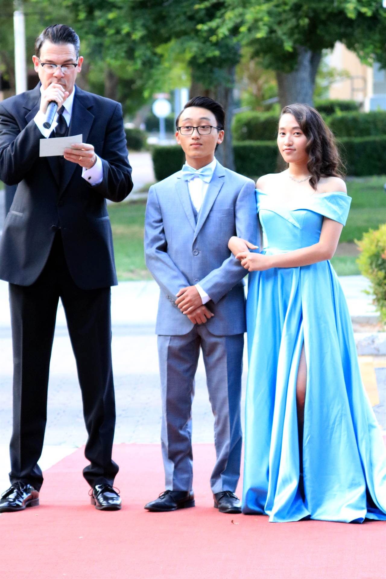 Students on Red Carpet